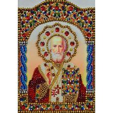 Набор для вышивания хрустальными камнями Святой Николай Чудотворец, 17,5x25, Хрустальные Грани