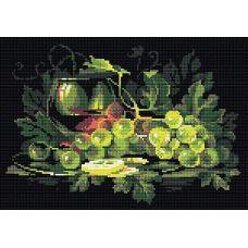 Алмазная мозаика Натюрморт с лимоном, 38x27, полная выкладка, Риолис