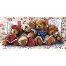 Набор для вышивания крестом Медвежья семейка, 32x56, Белоснежка