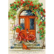 Набор для вышивания крестом Дверь в Италию, 21x30, Риолис, Сотвори сама
