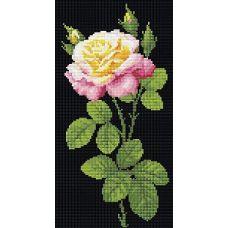 Алмазная мозаика Дивный цветок, 20x38, полная выкладка, Риолис