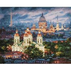 Живопись по номерам Все краски вечера. Санкт-Петербург, 40x50, Белоснежка