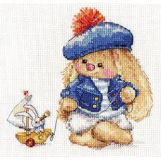 Набор для вышивания крестом Зайка Ми. Моряк, 14x14, Алиса