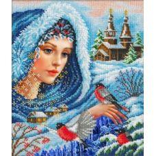 Набор для вышивания Волшебница-зима, 31x26, Русская искусница