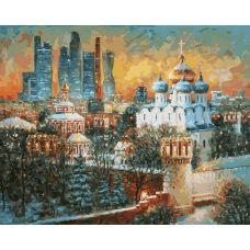 Живопись по номерам Москва. В тиши уходящего дня, 40x50, Белоснежка