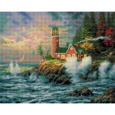 Алмазная мозаика Бушующая стихия, 40x50, полная выкладка, Белоснежка