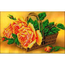 Набор для вышивания Розы в корзине, 18x27, Вышиваем бисером