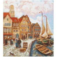 Набор для вышивания Городской причал, 21x24, Палитра