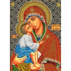 Набор для вышивания Богородица Донская, 18,5x26, Вышиваем бисером