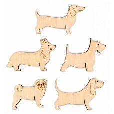 Бобины для ниток Собаки, 5,5x8,8, Щепка (МП-Студия)