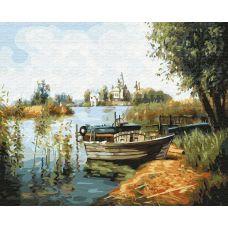 Живопись по номерам Лодка у берега, 40x50, Paintboy, GX31177