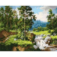 Живопись по номерам Лесной ручей, 40x50, Paintboy, GX24784