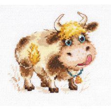 Набор для вышивания крестом Бычок, 11x10, Алиса
