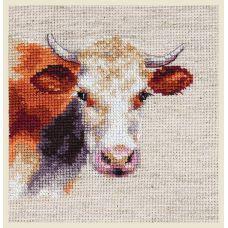 Набор для вышивания крестом Корова, 10x9, Алиса