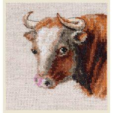 Набор для вышивания крестом Бык, 9x10, Алиса