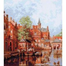 Набор для вышивания Дордрехт, городской пейзаж, 27x30, Палитра