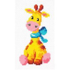 Набор для вышивания Жирафик, 8х15, Чудесная игла