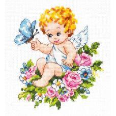 Набор для вышивания крестом Ангел нашей любви!, 12x15, Чудесная игла