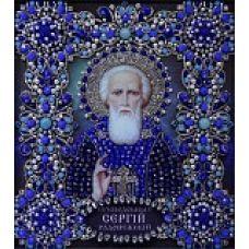Набор для вышивания хрустальными камнями Святой Сергий Радонежский, 16,5x19, Хрустальные Грани