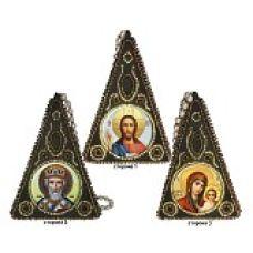 Набор для вышивания Подвеска Пирамидка. Триптих, 8,5x6, Вышиваем бисером