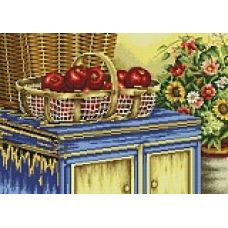 Набор для вышивания крестом Корзинка с яблоками, 39x51, Белоснежка