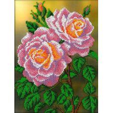 Набор для вышивания Розовые розы, 19,5x26,5, Вышиваем бисером