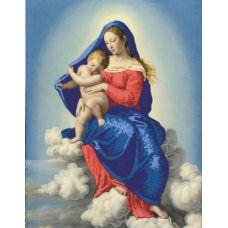 Ткань для вышивания бисером Мадонна с младенцем в славе, 29х39, Конек