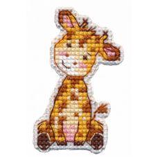 Набор для вышивания крестом Значок Жираф, 4x6,6, Овен