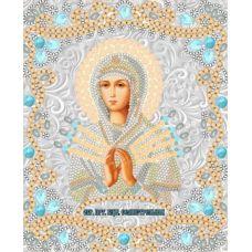 Ткань для вышивания бисером Богородица Семистрельная, 15x18, Конек