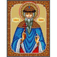 Набор для вышивания Святой Вадим, 20x26,5, Вышиваем бисером