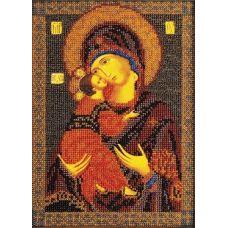 Набор для вышивания бисером Владимирская Богородица, 18x25, Кроше