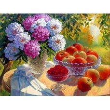 Картина по номерам Летний натюрморт, 40x50, Paintboy, GX22719