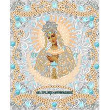 Ткань для вышивания бисером Богородица Остробрамская, 15x18, Конек