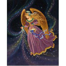 Ткань для вышивания бисером Звездный ангел, 29x39, Конек