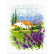 Набор для вышивания крестом Ферма в Провансе, 18x24, Риолис, Сотвори сама
