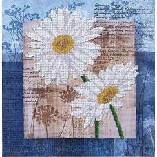 Набор для вышивания бисером Цветы любви 3, 26,5x26,5, Магия канвы