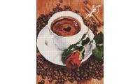 Алмазная мозаика Кофе для любимой, 40x50, полная выкладка, Painting Diamond