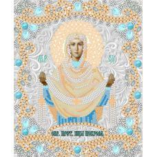Ткань для вышивания бисером Богородица Покрова, 15x18, Конек