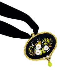 Набор для вышивания крестом Кулон Белая роза, 7x7, Риолис, Сотвори сама