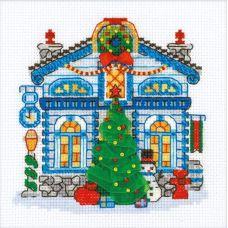 Набор для вышивания крестом Ледяной домик, 15x15, Риолис, Сотвори сама