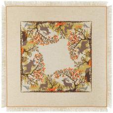 Набор для вышивания крестом Салфетка Лесные животные, 72x72, Риолис, Сотвори сама