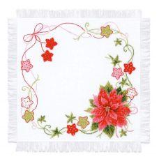Набор для вышивания крестом Салфетка Рождественская, 45x45, Риолис, Сотвори сама