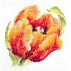 Набор для вышивания крестом Красный тюльпан, 11x11, Чудесная игла