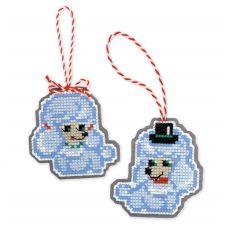 Набор для вышивания крестом Новогодние игрушки Собачки, 8x8 8x9, Риолис, Сотвори сама