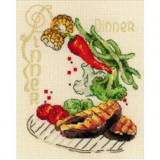Набор для вышивания крестом Обед, 15x18, Риолис, Сотвори сама