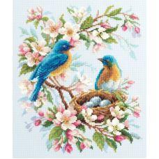 Набор для вышивания крестом Весенняя песня, 21x27, Чудесная игла