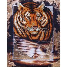 Набор для вышивания бисером Тигр, 34x45, Магия канвы