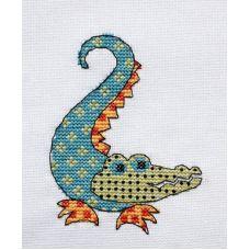 Набор для вышивания крестом Квилтовый крокодильчик, 8x11, НеоКрафт