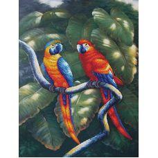 Набор для вышивания бисером Краски джунглей, 33,5x47,5, Магия канвы