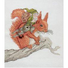 Набор для вышивания крестом За орехами, 20x21, НеоКрафт